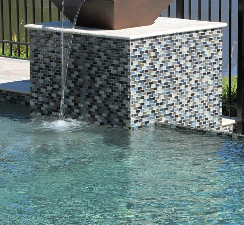 Pool Tile And Coping Ideas stunning inground pool waterfall kits with travertine tile pool coping also cobalt blue ceramic tile for Classic Pool Tile Swimming Pool Tile Coping Decking Mosaics Depth Markers